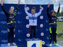 Podium Championnats québécois 2021 - Catégorie 9-10 ans féminin