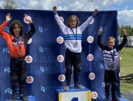Podium Championnats québécois 2021 - Catégorie 8 ans masculin