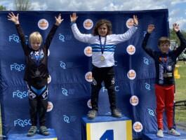 Podium Championnats québécois 2021 - Catégorie 9 ans masculin