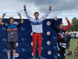Podium Championnats québécois 2021 - Catégorie 13 ans masculin