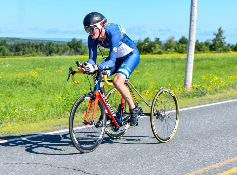 Louis Albert Corriveau-Jolin lors de l'épreuve du contre-la-montre aux Nationaux sur route 2019