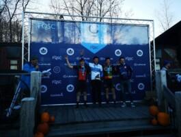 Un des podiums lors des Championnats québécois de cyclo-cross 2019