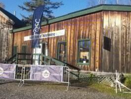 Le site de la Mine Capelton où se tenait les Championnats québécois de cyclo-cross
