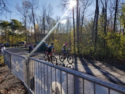 La ligne de départ des Championnats québécois de cyclo-cross 2019