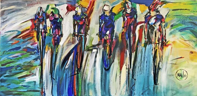 Peinture Art Sport Arc En Ciel Art Acrylique France Malo Artiste Officielle Fqsc Grand Maaitre En Beaux Arts Aibaq