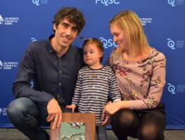 Mathieu Toulouse en compagnie de sa conjointe et de leur fille