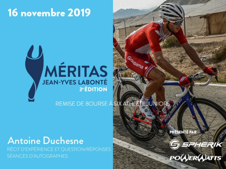 Antoine Duchesne sera le porte-parole des Méritas Jean-Yves Labonté