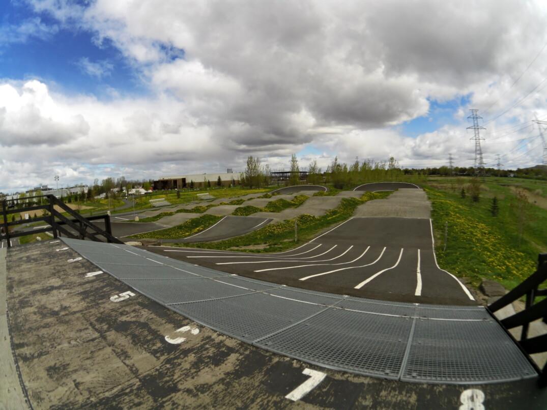 Le circuit de BMX Rive-Sud lors de son homologation.