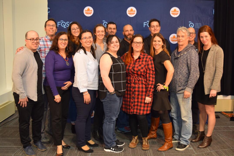 Toute l'équipe de la FQSC lors du Congrès 2019.