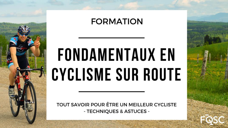 Fondamentaux En Cyclisme Sur Route Recto