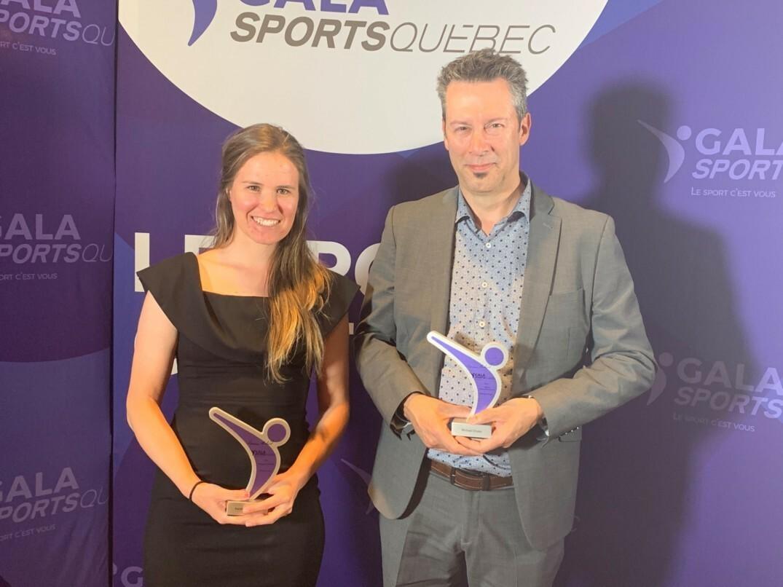Karol-Ann Canuel et Michaël Drolet ont remporté un prix lors du gala Sports Québec en 2019.
