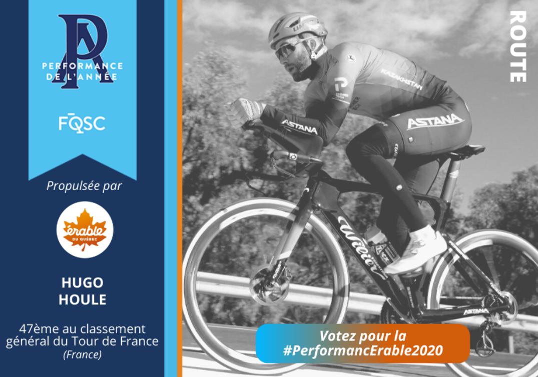 Hugo Houle a terminé au 47e rang du classement général du Tour de France en 2020.  Crédit photo : Astana-Premier Tech