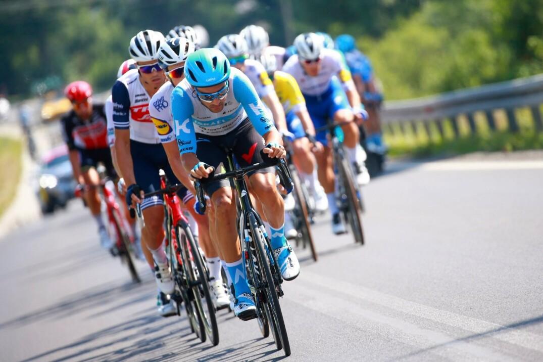 James Piccoli durant le Tour de Pologne.