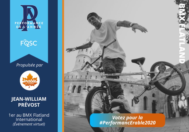 Jean-William Prévost a remporté la compétition E-FISE en 2020. Crédit : Sevisual