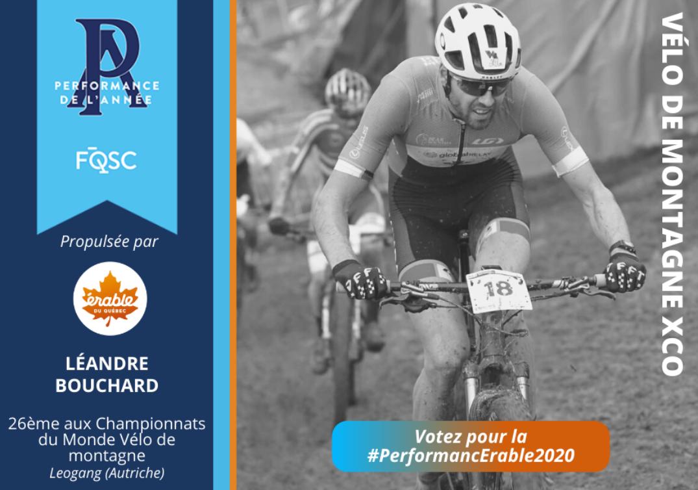 Léandre Bouchard a pris le 26e rang lors des Championnats du monde XCO en Autriche. Crédit photo : Caroline Gauthier, Team Pivot Cycles-OTE