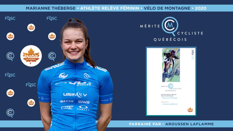 Marianne Théberge nommée athlète relève féminin de l'année en vélo de montagne.