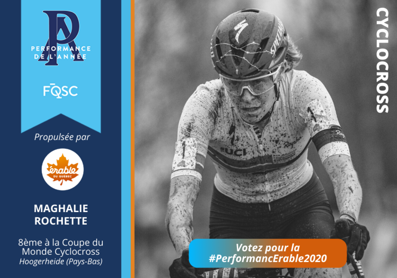 Maghalie Rochette a terminé au 8e rang lors de la finale de la Coupe du monde de cyclocross présentée aux Pays-Bas. Crédit photo : Billy Ceusters