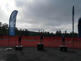 Le podium des athlètes en début de journée (U11/U13).