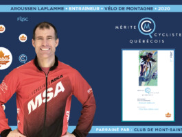 Aroussen Laflamme nommé entraîneur de l'année en vélo de montagne.