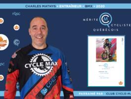 Charles Mathys nommé entraîneur de l'année en BMX.