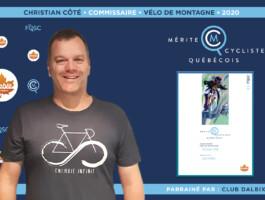 Christian Côté nommé commissaire de l'année en vélo de montagne.