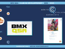 Le club BMX QSA est nommé club de développement de l'année en BMX.