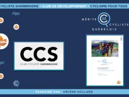Le club cycliste de Sherbrooke est nommé club de développement de l'année en cyclisme pour tous.