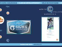 Le club de vélo de montagne Sigma Assurance est nommé club de développement de l'année en vélo de montagne.