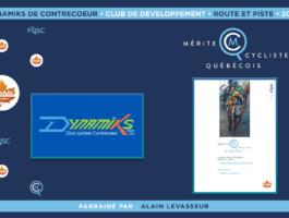 Le Club cycliste des Dynamiks de Contrecoeur est nommé club de développement de l'année en cyclisme sur route et piste.