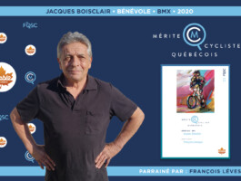 Jacques Boisclair nommé bénévole de l'année en BMX.