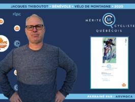 Jacques Thiboutot nommé bénévole de l'année en vélo de montagne.