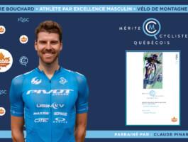 Léandre Bouchard nommé athlète masculin par excellence en vélo de montagne.