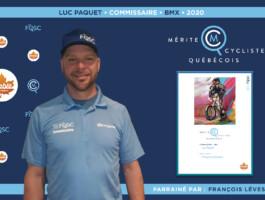 Luc Paquet nommé commissaire de l'année en BMX.