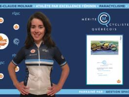 Marie-Claude Molnar nommée athlète féminine par excellence en paracyclisme.