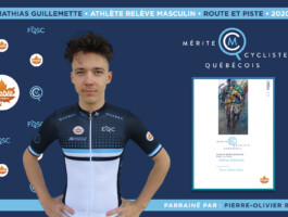 Mathias Guillemette nommé athlète relève masculin de l'année en cyclisme sur route et piste.