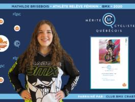 Mathilde Brisebois nommée athlète relève féminin de l'année en BMX.