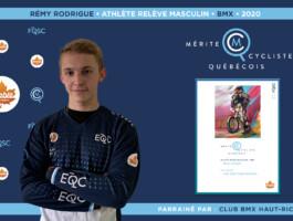 Rémy Rodrigue nommé athlète relève masculin de l'année en BMX.