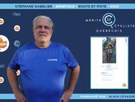 Stéphane Gabelier nommé bénévole de l'année en cyclisme sur route et piste.