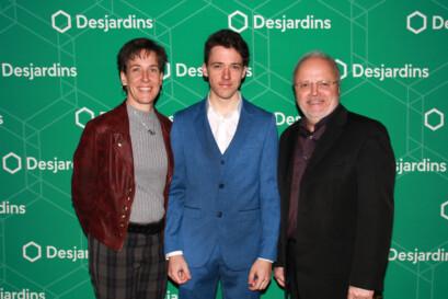 Mathias Guillemette en compagnie de ses parents.