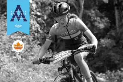 Raphaëlle Carrier est nommée athlète relève du mois d'août en vélo de montagne.