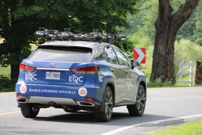 La Lexus de l'équipe du Québec FQSC en chasse.