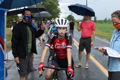 Une jeune protégée de la formation Espoirs de Laval Primeau vélo.