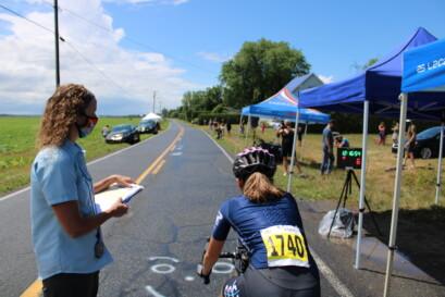Une autre coureuse de la formation Club cycliste Boucherville - Vélo 2000.