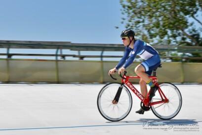 Tristan Guillemette a fait une démonstration sur la piste du vélodrome