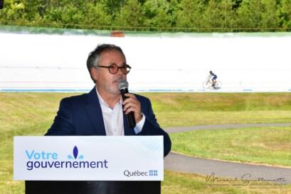 Prise de parole lors de l'annonce réalisée par le ministère du Tourisme du Québec le 6 août, en après-midi.