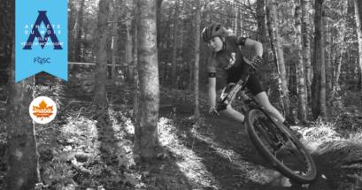 Ophélie Grandmont a remporté le titre de l'athlète de la relève du mois de septembre en vélo de montagne.           Crédit photo : Peter Marcoux