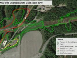 Parcours Xco Minimes 35 Km Championnat Quebecois 2019