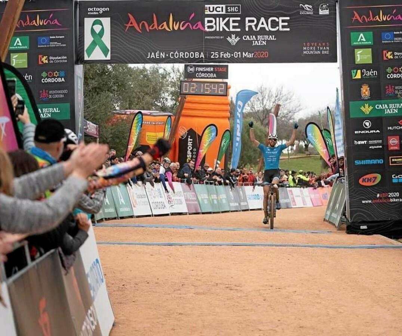 Léandre Bouchard a terminé au troisième rang lors de l'Andalucia Bike Race, en Espagne.