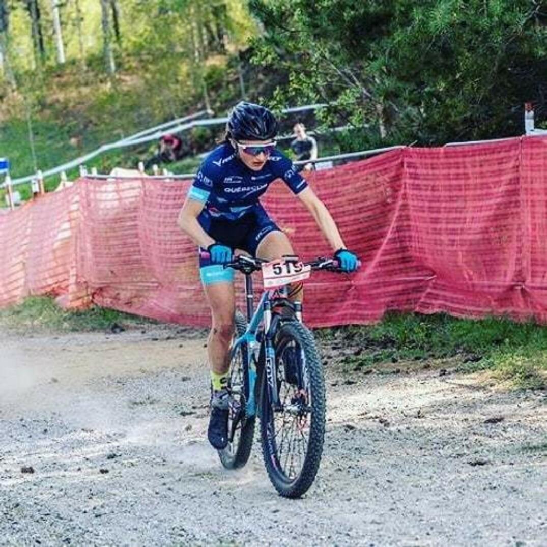 Magdeleine Vallières-Mill lors d'une course plus tôt cette année