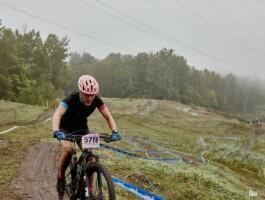 Les vallons du Mont-Saint-Anne compliquent la tâche des athlètes